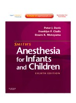 Smith's Anesthesia for Infants and Children, 8/e